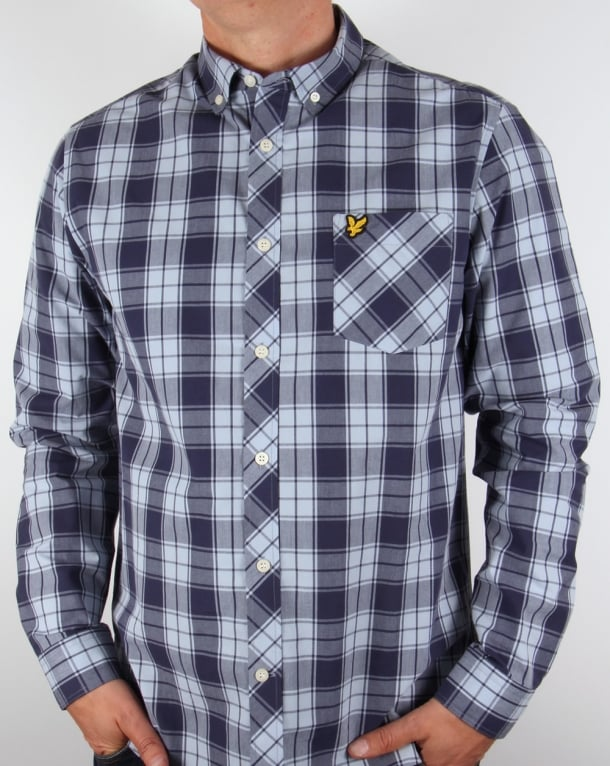 Lyle And Scott Check Shirt Navy