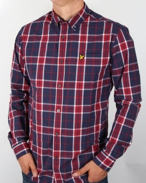 Lyle And Scott Check Shirt Ruby