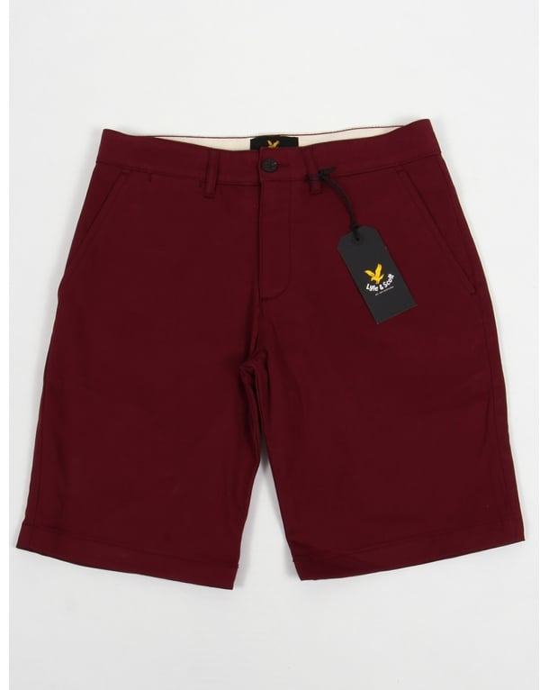 Lyle And Scott Chino Shorts 2 Claret Jug