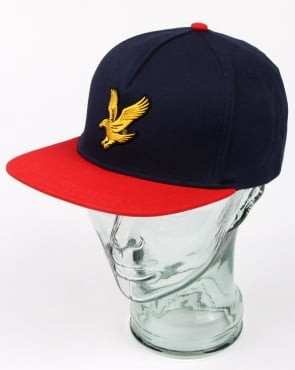 Lyle And Scott Colour Block Baseball Cap Dark Navy/poppy