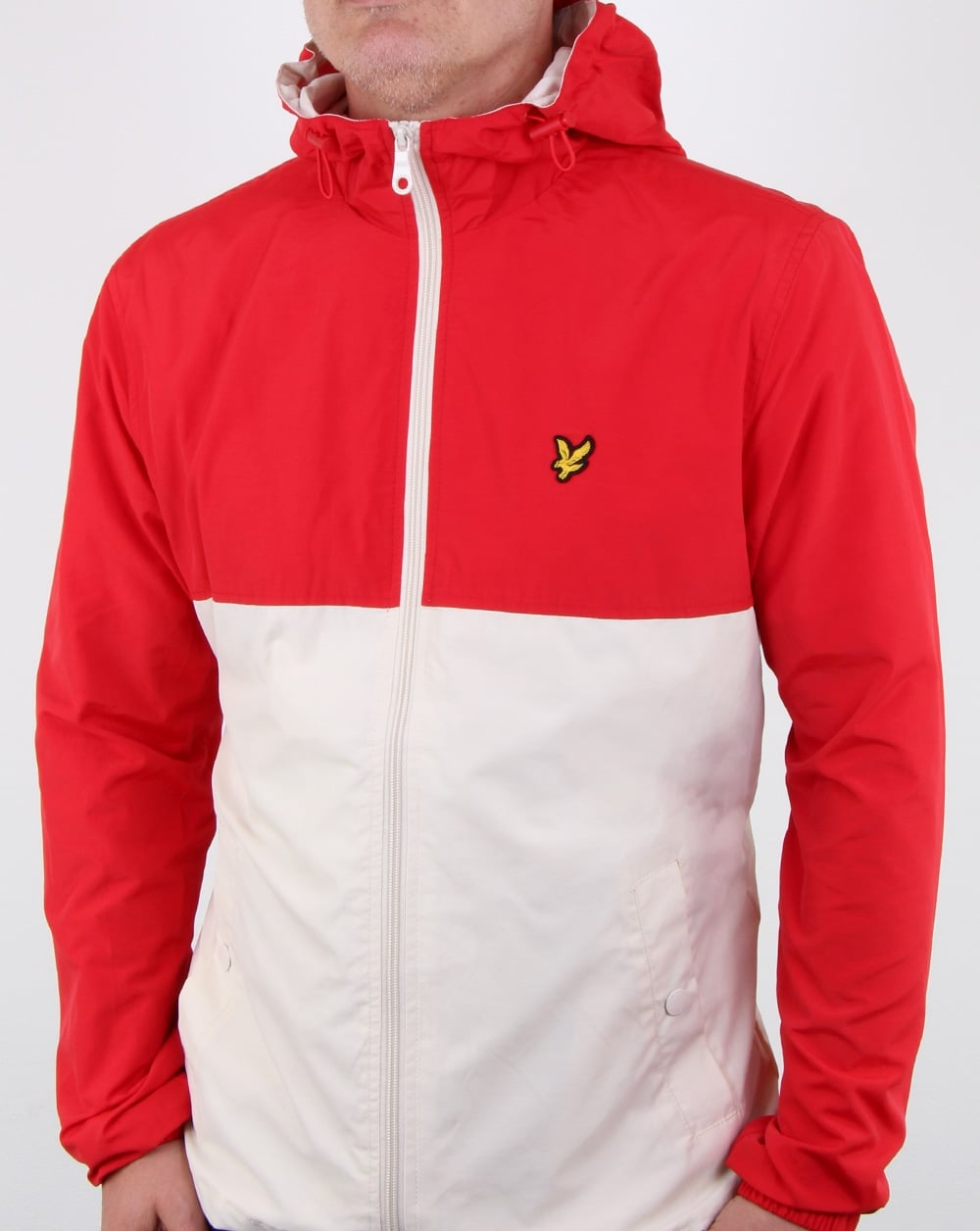 lyle and scott colour block jacket tomato red mens. Black Bedroom Furniture Sets. Home Design Ideas