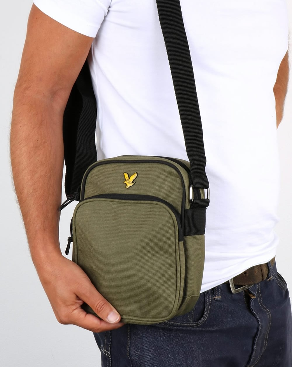 Lyle And Scott Colour Pop Small Items Bag Olive,flight,travel,shoulder 4af766973b