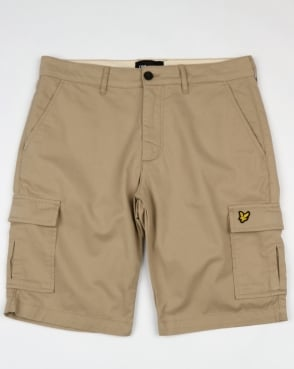 Lyle And Scott Combat Cargo Shorts Stone