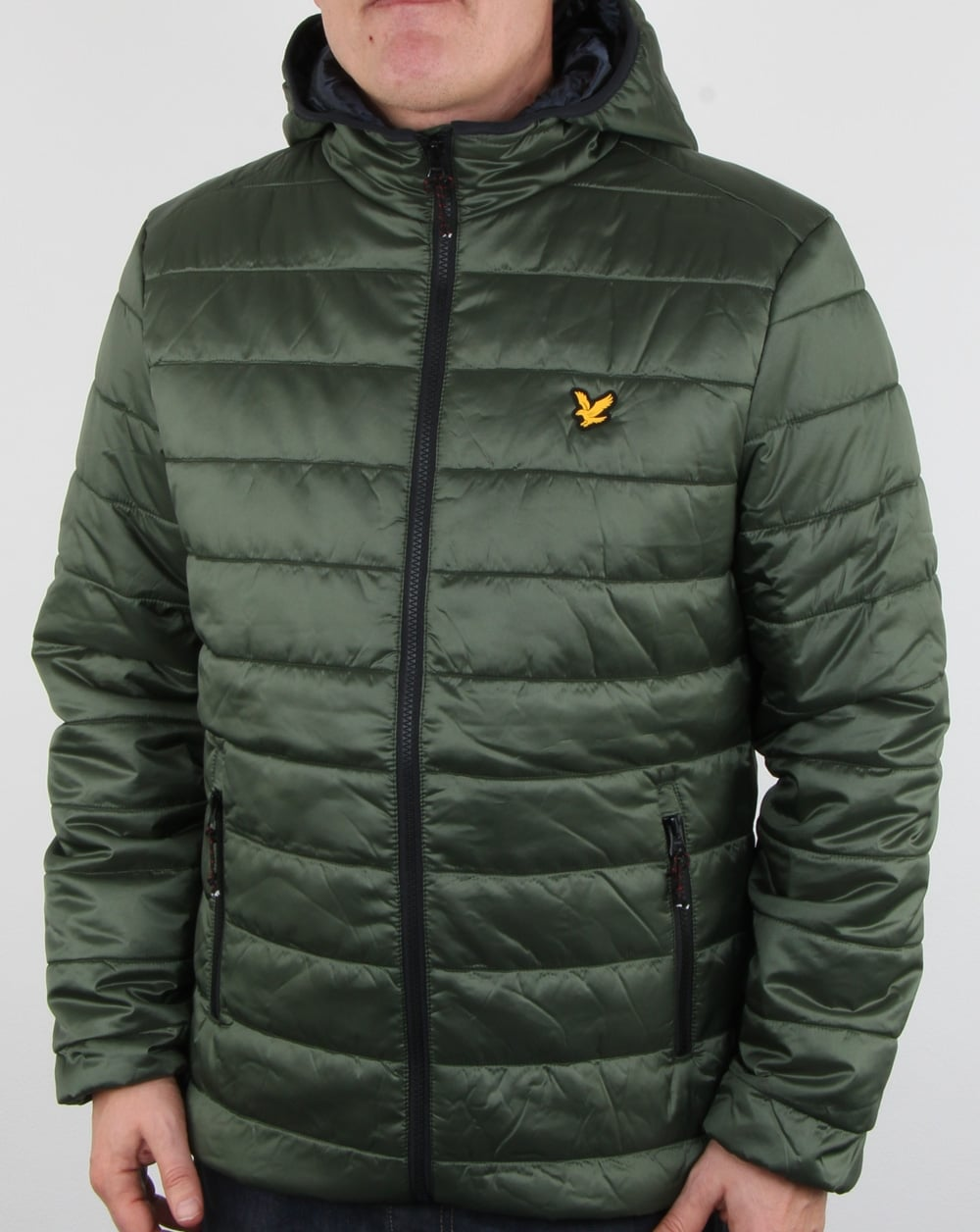 Lyle And Scott Cooke Insulated Foil Jacket Olive Mens
