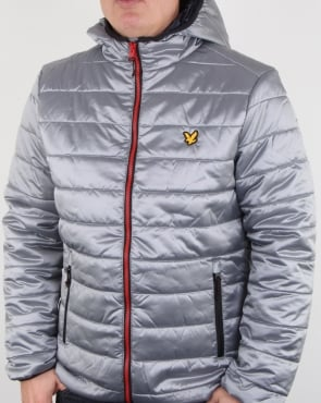 Lyle And Scott Cooke Insulated Foil Jacket Silver