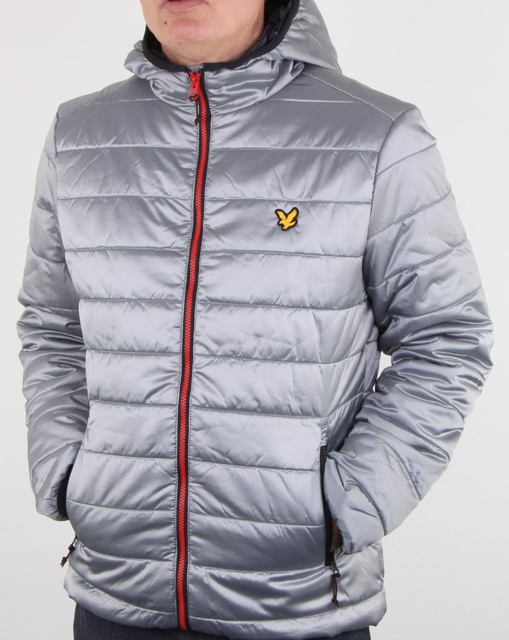 Lyle And Scott Cooke Insulated Foil Jacket Silver Mens