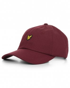 Lyle And Scott Cotton Twill Baseball Cap Claret Jug