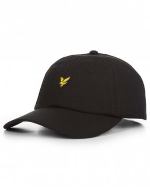 Lyle And Scott Cotton Twill Baseball Cap True Black