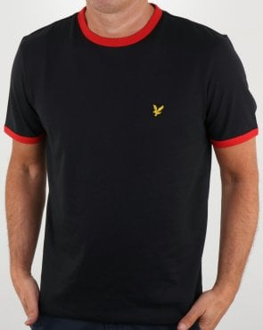 Lyle And Scott Country Ringer T Shirt Black
