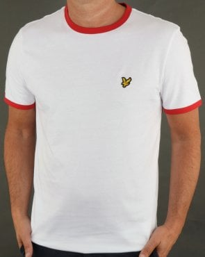 Lyle And Scott Country Ringer T Shirt White