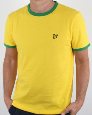 Lyle And Scott Country Ringer T Shirt Yellow