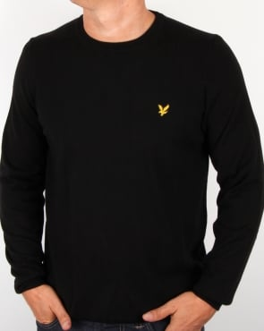 Lyle And Scott Crew Neck Jumper Black