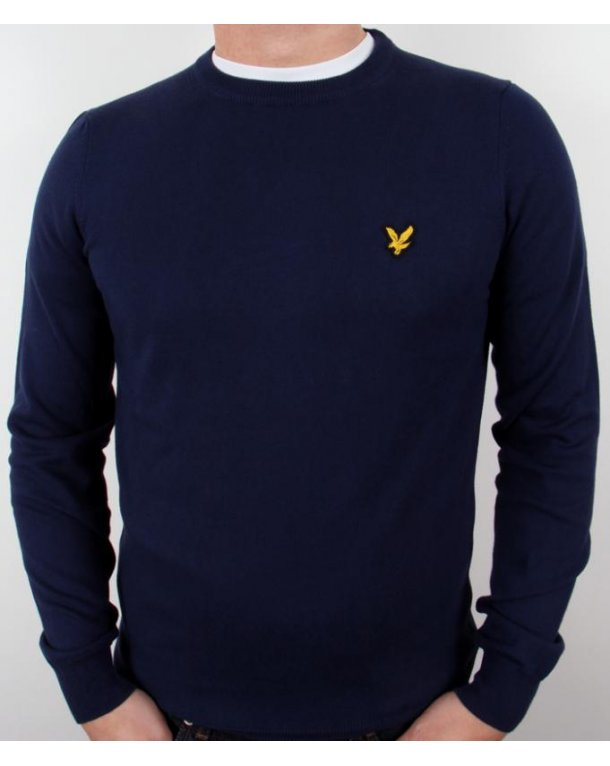 Lyle And Scott Crew Neck Jumper New Navy