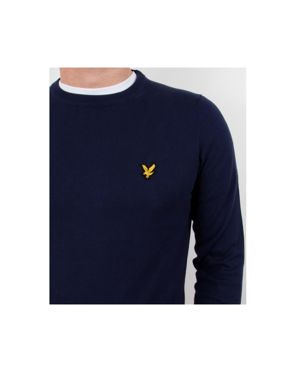 lyle and scott crew neck jumper new navy lyle and scott jumper crew neck. Black Bedroom Furniture Sets. Home Design Ideas