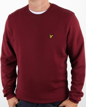 Lyle And Scott Crew Neck Sweatshirt Claret