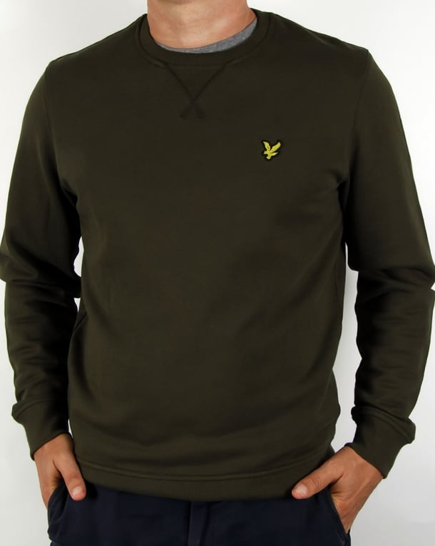 Lyle And Scott Crew Neck Sweatshirt Dark Sage