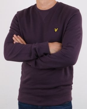 Lyle And Scott Crew Neck Sweatshirt Deep Plum