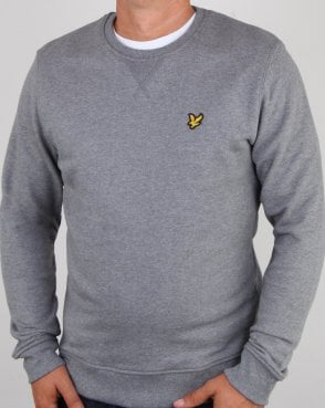 Lyle And Scott Crew Neck Sweatshirt Mid Grey Marl