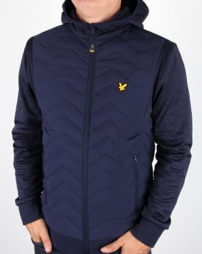 Lyle And Scott Detail Hooded Jacket Navy