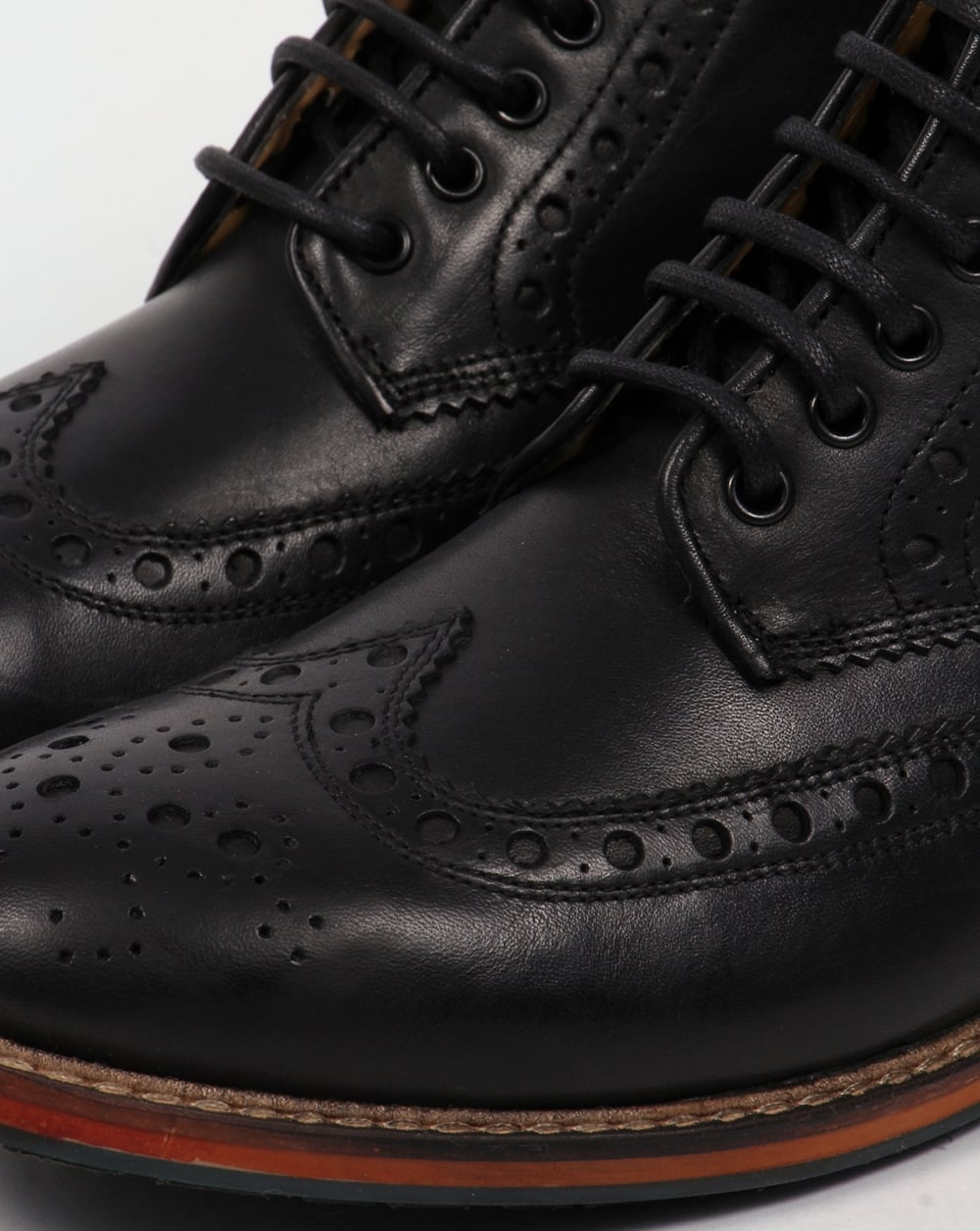 6ca3781792e Lyle And Scott Deveron Brogue Boots Black