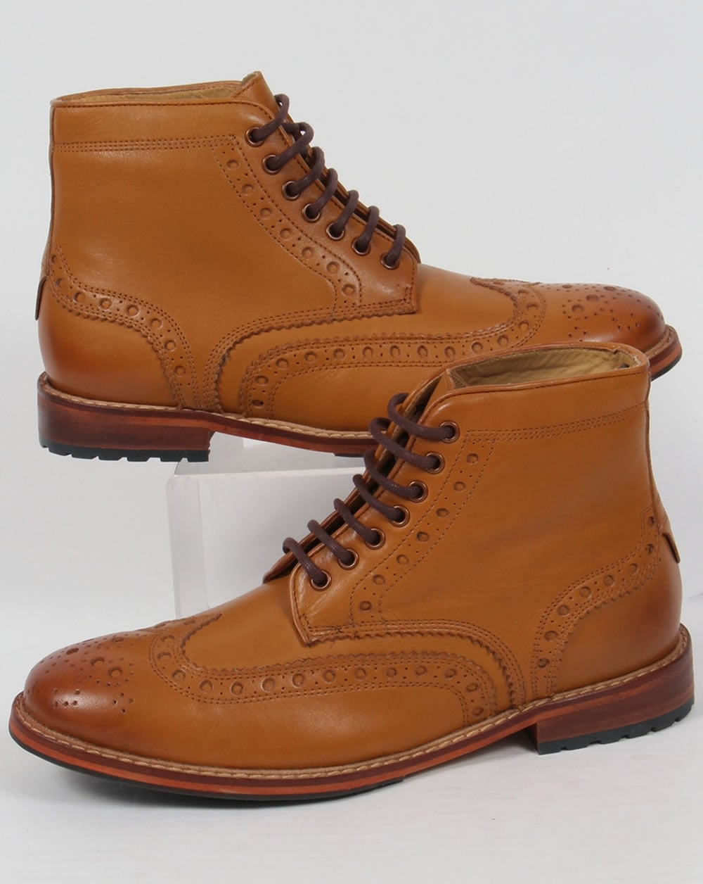 583ca72658b Lyle and Scott Lyle And Scott Deveron Brogue Boots Tan