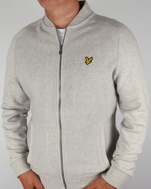 Lyle And Scott Double Faced Bomber Light Grey Marl
