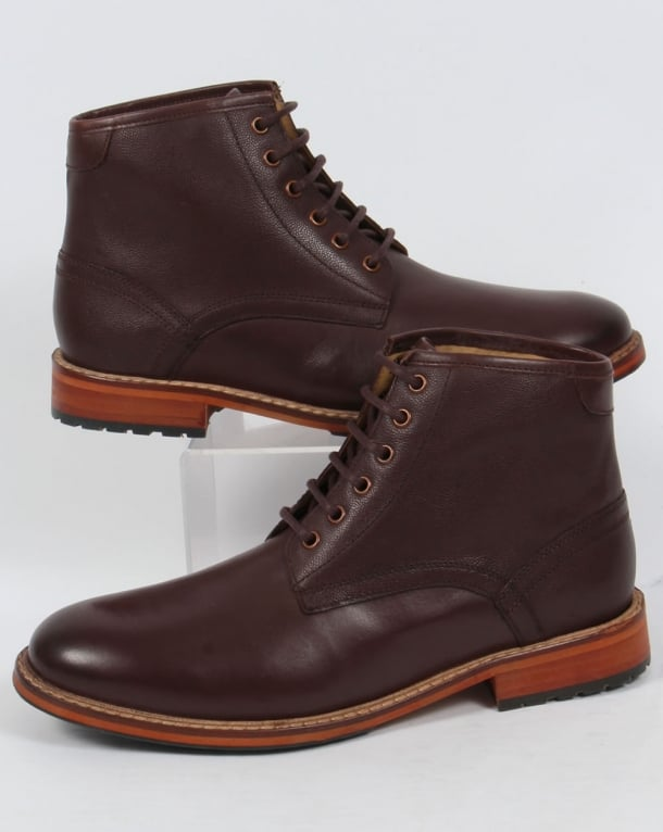 Lyle And Scott Everyman Leather Boots Brown