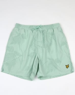 Lyle And Scott Fern Print Swim Shorts Powder Blue