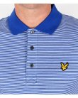 Lyle And Scott Fine Stripe Polo Shirt Blue Lagoon