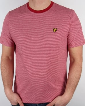 Lyle And Scott Fine Stripe T-shirt Ruby