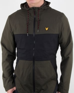 Lyle And Scott Fitness Baxter Hooded Windbreaker Olive