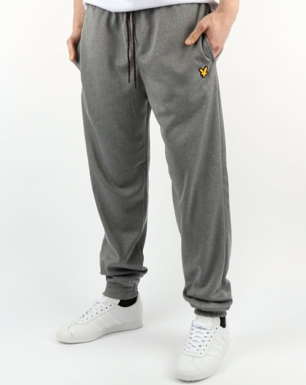 Lyle And Scott Fitness Hislop Fleece Track Pants Grey Marl
