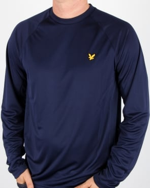 Lyle And Scott Fitness Long Sleeve Fitness T Shirt Navy