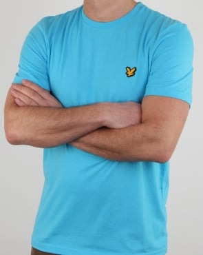 Lyle And Scott Fitness Martin T Shirt Crisp Blue