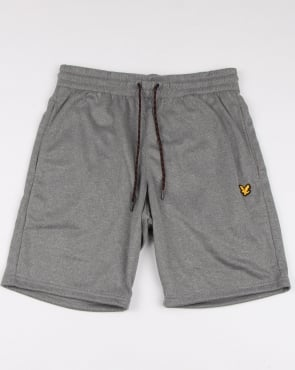 Lyle And Scott Fitness Randall Fleece Shorts Mid Grey Marl