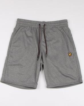 Lyle And Scott Fitness Randall Fleece Shorts Mid Grey Marl