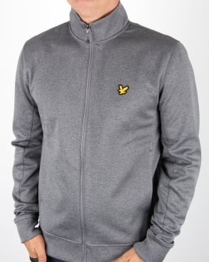 Lyle And Scott Fitness Steel Funnel Neck Track Top Mid Grey Marl