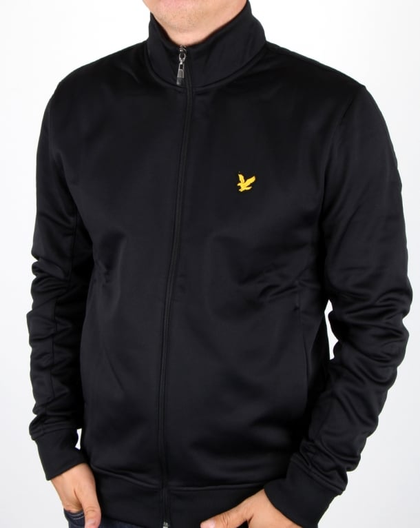 Lyle and Scott Fitness Steel Funnel Neck Track Top True Black
