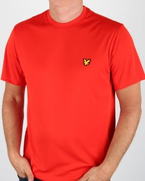 Lyle And Scott Fitness T Shirt Scooter Red