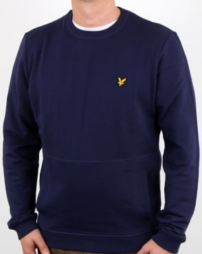 Lyle And Scott Front Pocket Sweatshirt Navy