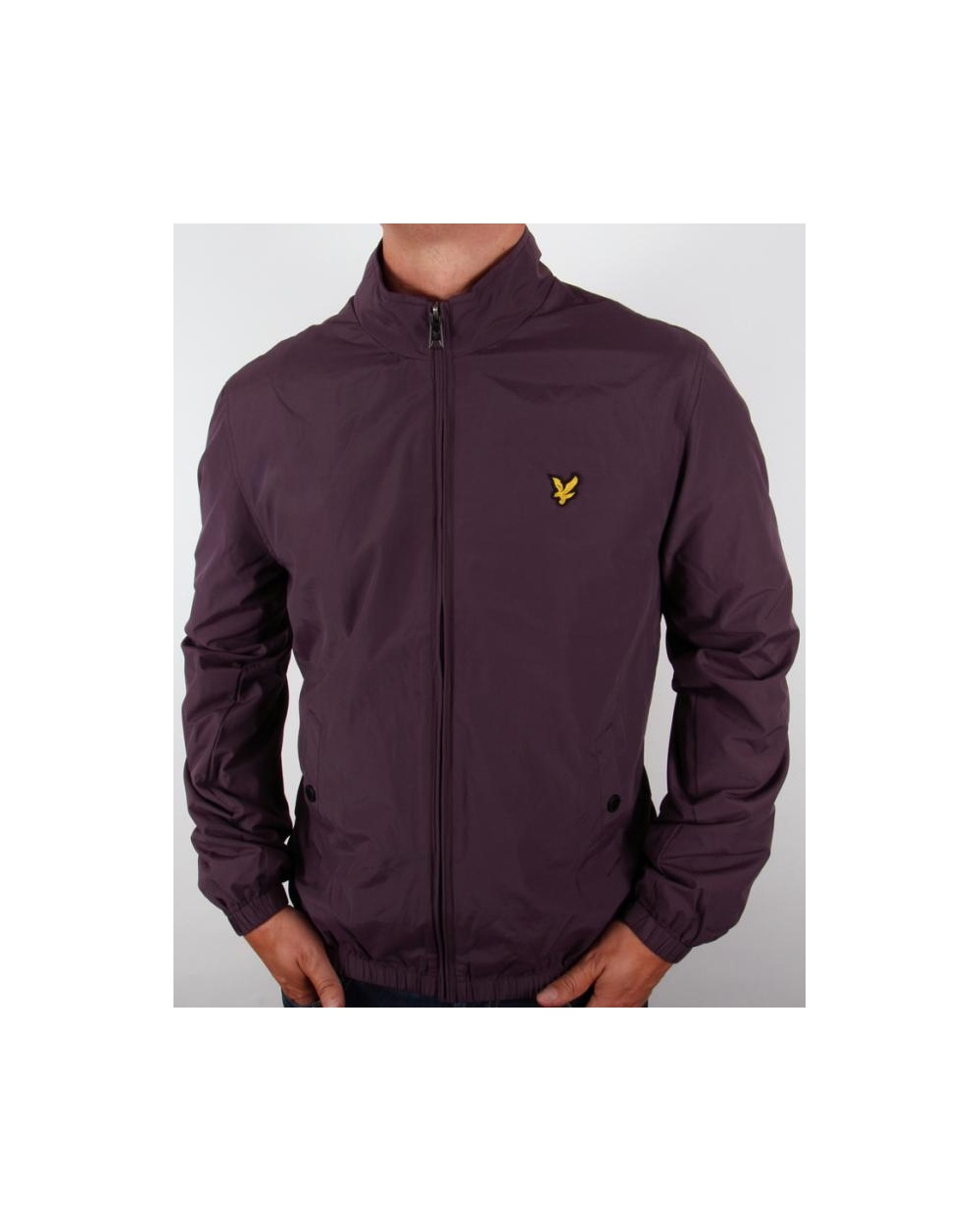 lyle and scott funnel neck jacket deep plum lyle scott funnel neck zip through coat. Black Bedroom Furniture Sets. Home Design Ideas