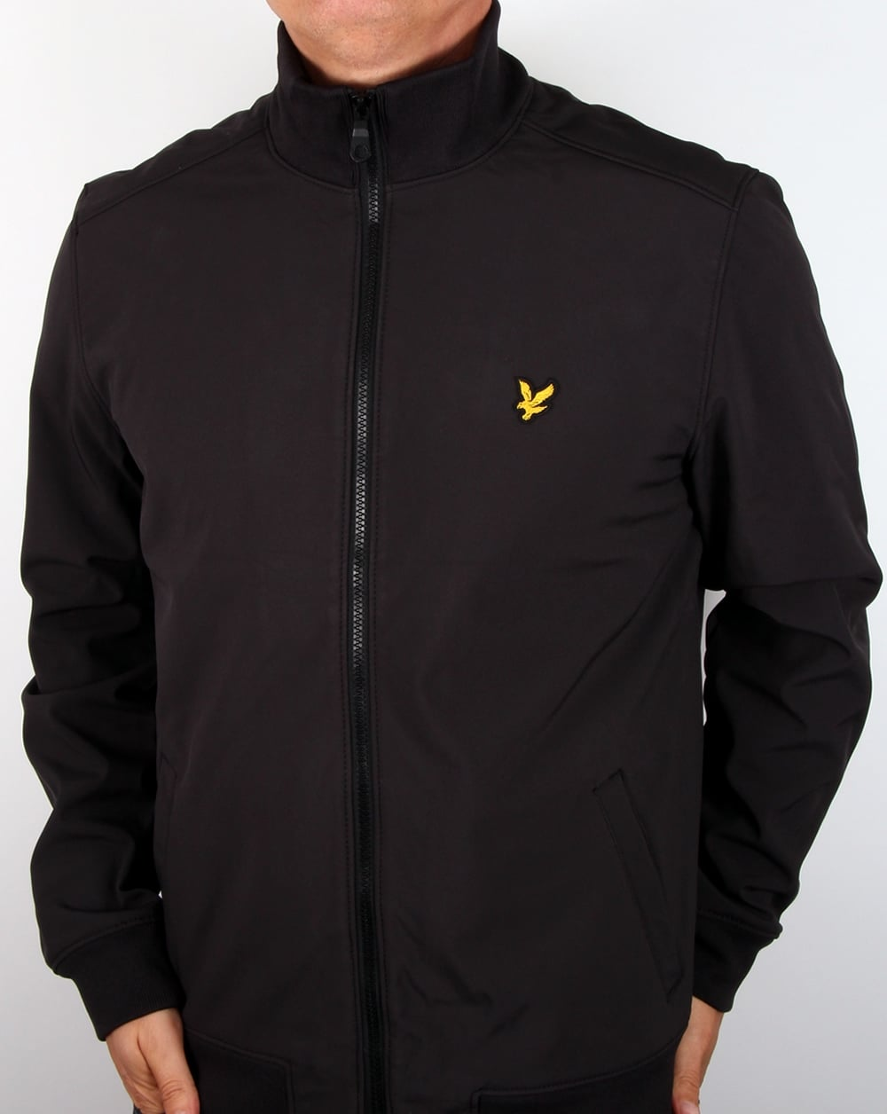 lyle and scott soft shell jacket true black men 39 s coat. Black Bedroom Furniture Sets. Home Design Ideas