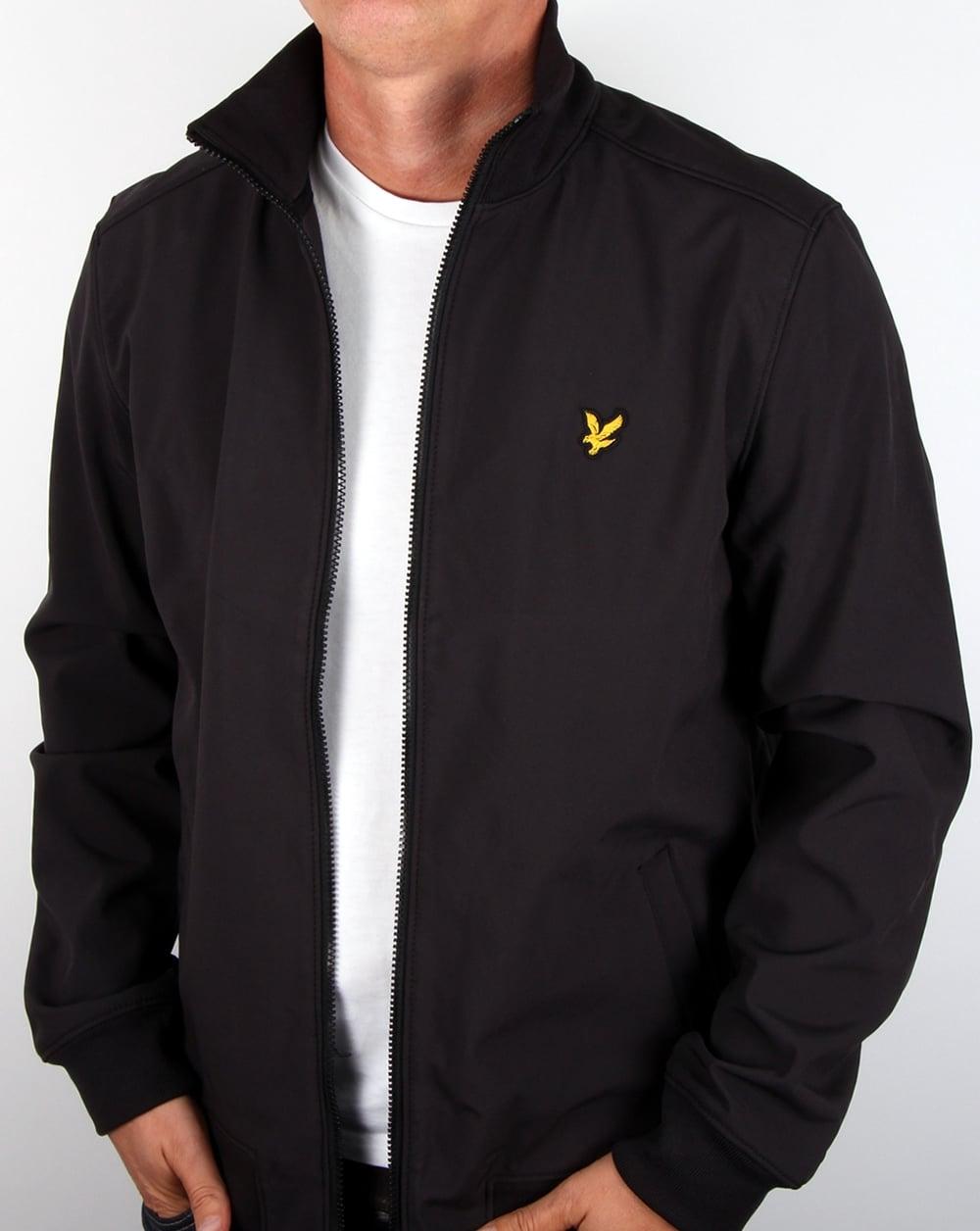 lyle and scott soft shell jacket true black men 39 s coat. Black Bedroom Furniture Sets. Home Design Ideas
