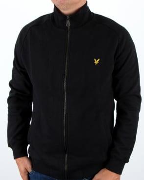 Lyle And Scott Funnel Neck Zip Through Sweatshirt True Black