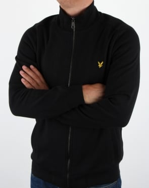 Lyle And Scott Funnel Neck Zip Through Sweatshirt True Black