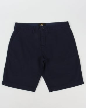 Lyle And Scott Garment Dye Shorts Navy