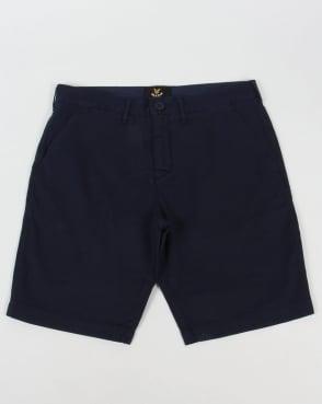 Lyle And Scott Garment Dye Shorts Navy
