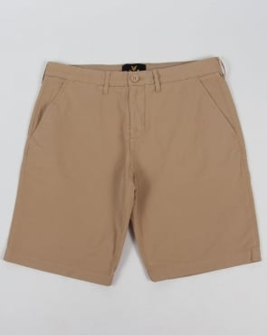 Lyle And Scott Garment Dye Shorts Stone
