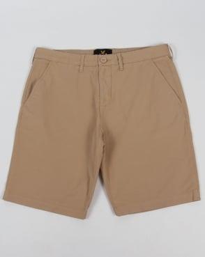Lyle And Scott Garment Dye Shorts Stone