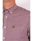 Lyle And Scott Gingham Check Shirt Claret